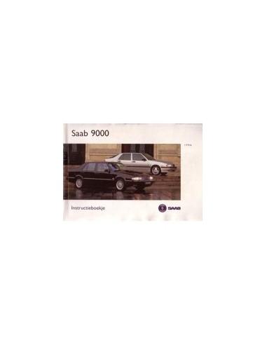 1996 SAAB 9000 INSTRUCTIEBOEKJE NEDERLANDS