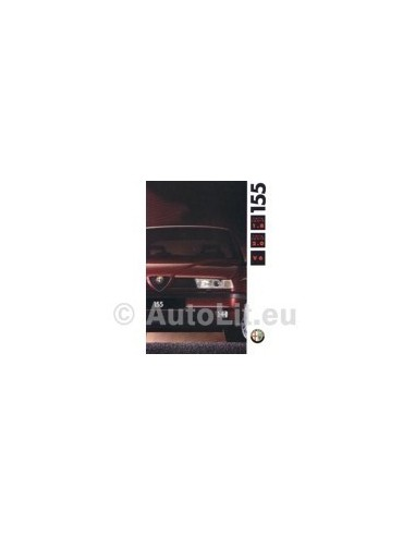 1992 ALFA ROMEO 155 BROCHURE NEDERLANDS