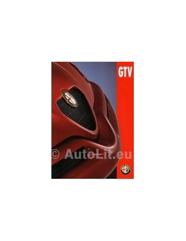 1995 ALFA ROMEO GTV BROCHURE NEDERLANDS