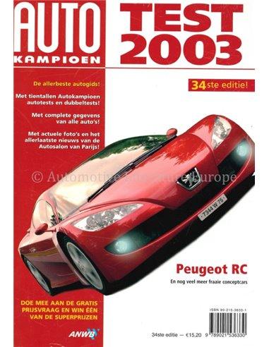 2003 AUTOTEST YEARBOOK DUTCH