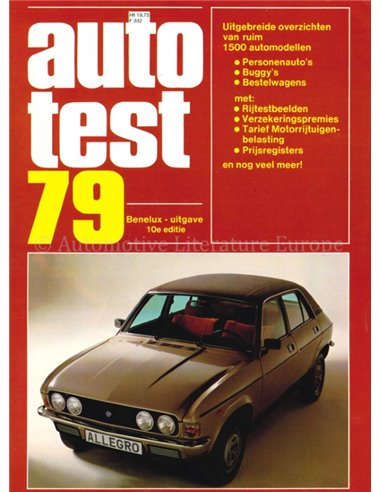 1979 AUTOTEST YEARBOOK DUTCH