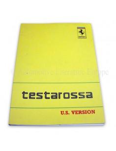 1988 FERRARI TESTAROSSA INSTRUCTIEBOEKJE USA VERSIE 536/88