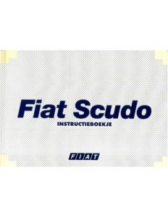 2000 FIAT SCUDO OWNERS MANUAL HANDBOOK DUTCH