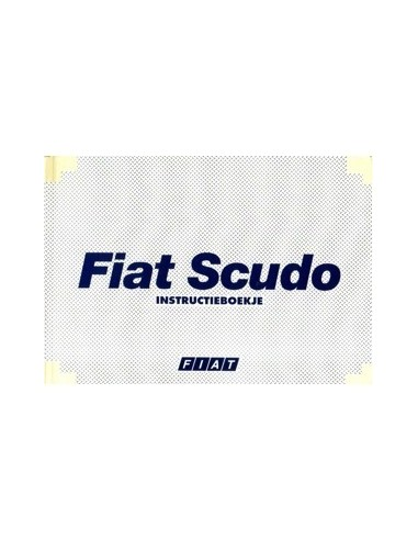 2000 FIAT SCUDO INSTRUCTIEBOEKJE NEDERLANDS