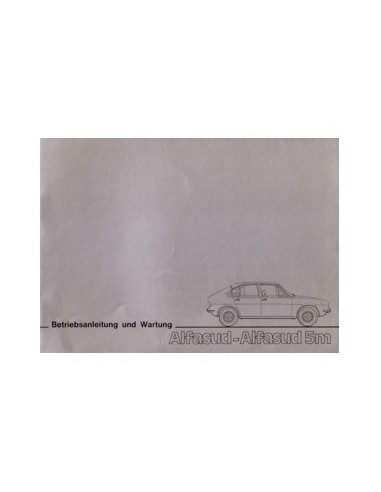 1976 ALFA ROMEO ALFASUD 5M INSTRUCTIEBOEKJE DUITS