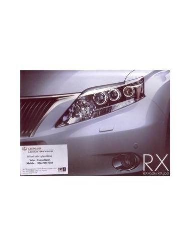 2010 LEXUS RX 450 350 BROCHURE THAIS