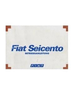 1998 FIAT SEICENTO INSTRUCTIEBOEKJE DUITS