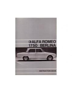 1968 ALFA ROMEO 1750 BERLINA INSTRUCTIEBOEKJE ENGELS