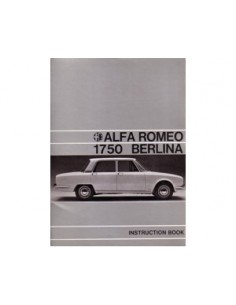 1968 ALFA ROMEO 1750 BERLINA INSTRUCTIEBOEKJE ENGELS