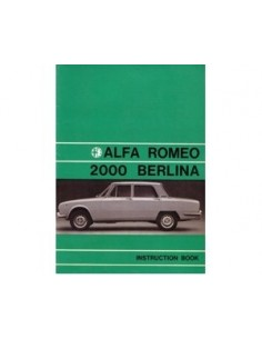1971 ALFA ROMEO 2000 BERLINA INSTRUCTIEBOEKJE ENGELS