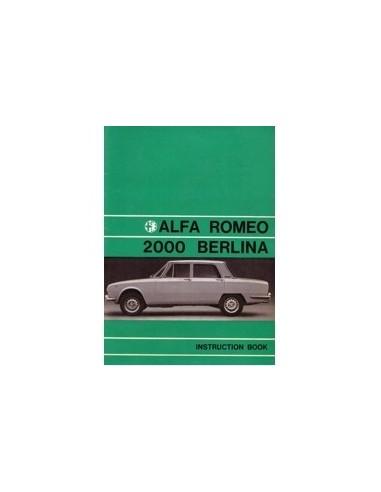 1971 ALFA ROMEO 2000 BERLINA INSTRUCTIEBOEKJE ENGELS