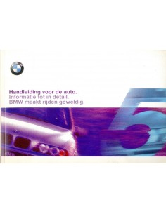 2000 BMW 5 SERIES SALOON & TOURING OWNER'S MANUAL DUTCH