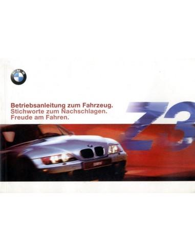 1999 BMW Z3 INSTRUCTIEBOEKJE DUITS
