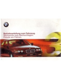 1999 BMW 3 SERIES LIMOUSINE OWNERS MANUAL GERMAN