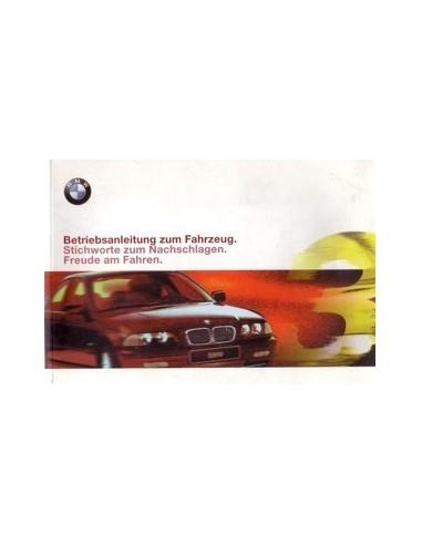1999 BMW 3 SERIE INSTRUCTIEBOEKJE DUITS