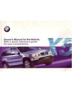 1999 BMW X5 OWNERS MANUAL HANDBOOK ENGLISH