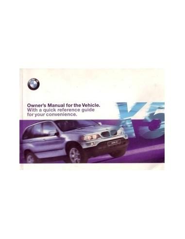 1999 BMW X5 INSTRUCTIEBOEKJE ENGELS