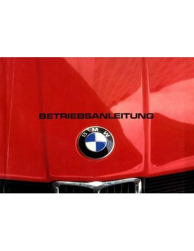 1981 BMW 3 SERIE INSTRUCTIEBOEKJE DUITS