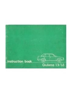 1978 ALFA ROMEO GIULIETTA INSTRUCTIEBOEKJE ENGELS