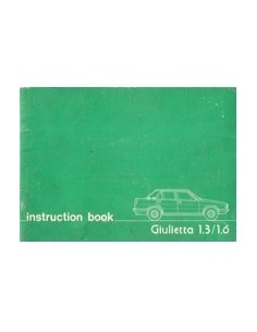 1978 ALFA ROMEO GIULIETTA OWNERS MANUAL ENGLISH