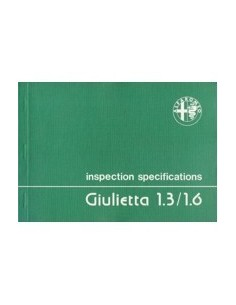 1979 ALFA ROMEO GIULIETTA INSPECTIE SPECIFICATIES ENGELS