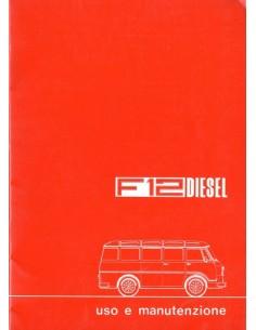 1977 ALFA ROMEO F12 DIESEL INSTRUCTIEBOEKJE ITALIAANS