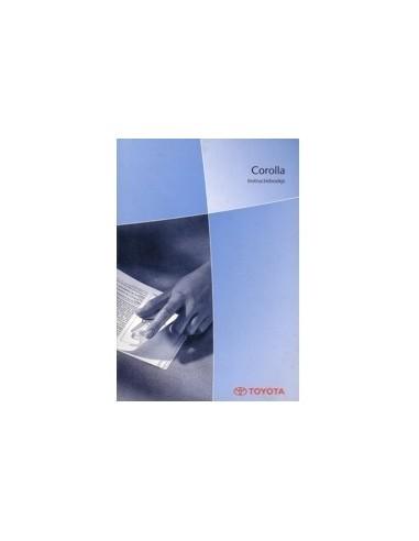 2003 TOYOTA COROLLA INSTRUCTIEBOEKJE NEDERLANDS