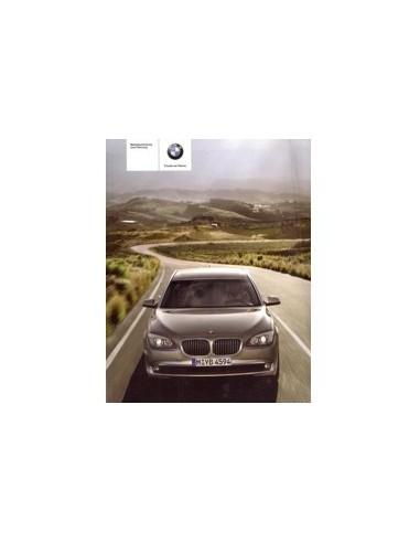 2009 BMW 7 SERIE INSTRUCTIEBOEKJE DUITS