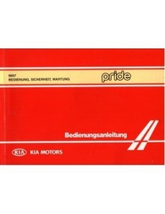 1996 KIA PRIDE OWNERS MANUAL HANDBOOK GERMAN