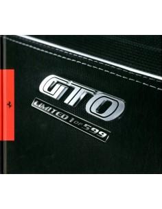 2010 FERRARI 599 GTO HARDCOVER BROCHURE 3688/10