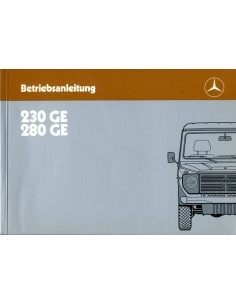 1985 MERCEDES BENZ GE CLASS OWNERS MANUAL HANDBOOK GERMAN
