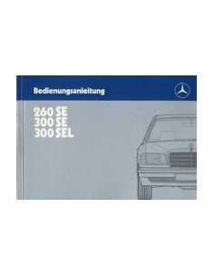 1985 MERCEDES BENZ S CLASS OWNERS MANUAL HANDBOOK GERMAN