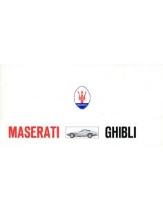 1969 MASERATI GHIBLI BROCHURE 'SCHAARS'