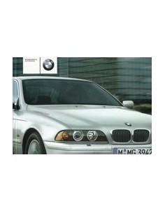 2002 BMW 5 SERIES OWNERS MANUAL HANDBOOK GERMAN