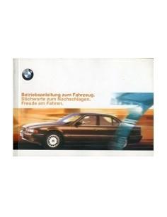 1998 BMW 7 SERIES OWNERS MANUAL HANDBOOK GERMAN