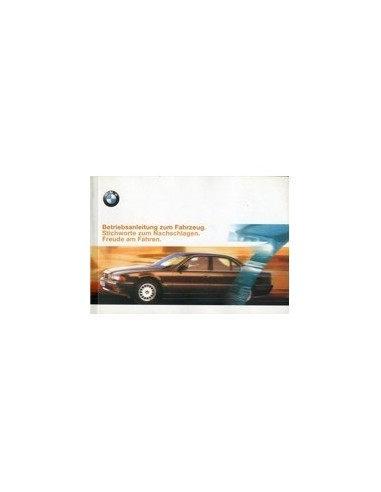 1998 BMW 7 SERIE INSTRUCTIEBOEKJE DUITS