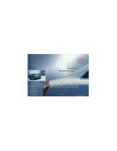 2001 AUDI A4 INSTRUCTIEBOEKJE DUITS