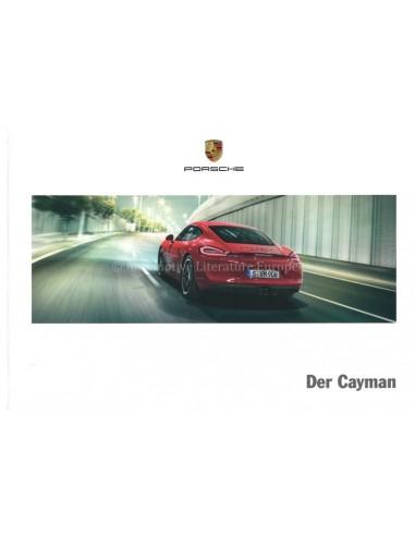 2016 PORSCHE CAYMAN S GTS HARDCOVER BROCHURE GERMAN