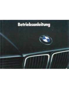 1991 BMW 7 SERIES OWNER'S MANUAL GERMAN