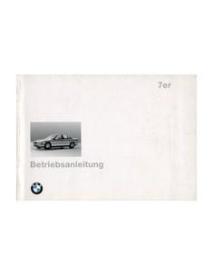 1994 BMW 7 SERIES OWNERS MANUAL HANDBOOK GERMAN