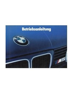 1991 BMW 5 SERIES M5 OWNERS MANUAL HANDBOOK GERMAN