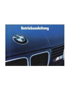 1988 BMW 5 SERIES M5 OWNERS MANUAL HANDBOOK GERMAN