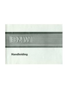 1986 BMW 3 SERIES OWNER'S MANUAL DUTCH