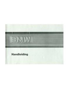1986 BMW 3 SERIE INSTRUCTIEBOEKJE NEDERLANDS