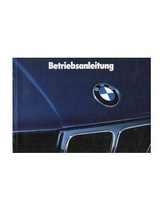 1988 BMW 5 SERIES OWNERS MANUAL HANDBOOK GERMAN