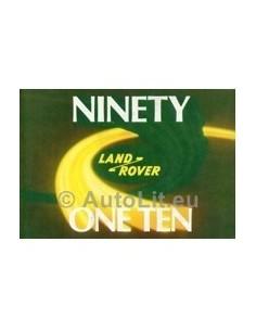 1984 LAND ROVER 90 110 INSTRUCTIEBOEKJE ENGELS