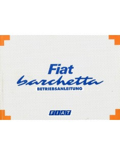 1995 FIAT BARCHETTA INSTRUCTIEBOEKJE DUITS