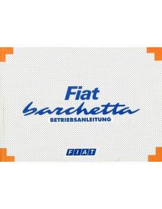 1995 FIAT BARCHETTA OWNER'S MANUAL GERMAN