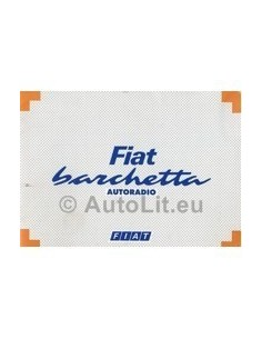 1995 FIAT BARCHETTA RADIO OWNERS MANUAL HANDBOOK GERMAN