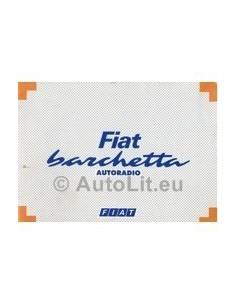 1995 FIAT BARCHETTA RADIO INSTRUCTIEBOEKJE DUITS